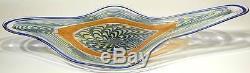 28 Hand Blown Glass Art Wall Bowl Platter By Dirwood Murano Cane Incalmo