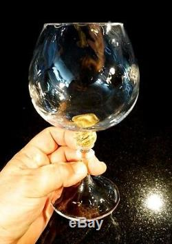 A Beautiful Hand Blown Murano Persepolis Wine Hock By Seguso Gianni