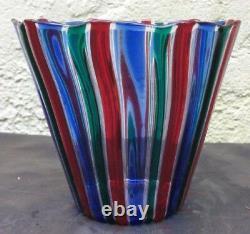 A RARE GIO PONTI Glass Cabinet Vase, Made By VENINI, Murano. ITALY, circa 1950's
