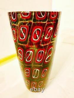 A RARE POLLIO PERELDA. By FRATELLI TOSO. Glass Vase