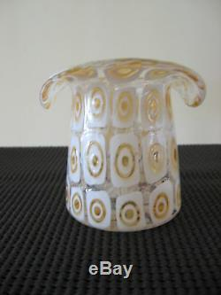 A RARE TOP HAT Glass Vase, By FRATELLI TOSO, of MURANO ITALY, circa 1950's-60's