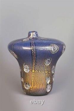 A rare ALDO NASON YOKOHAMA Glass Vase. Made by A. Ve. M. Circa 1950's