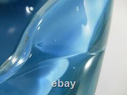 Alfredo Barbini Hand Blown Murano Italy Bullicante Avventurina Art Glass Bowl