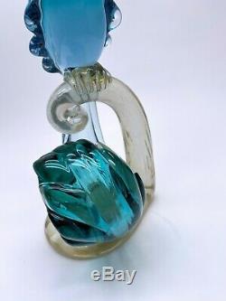 Alfredo Barbini Mid Century Modern Murano Glass Bird Of Paradise 14 1/4