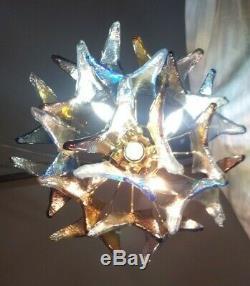 Alfredo Barbini Murano Confetti Hand Blown Glass Chandelier