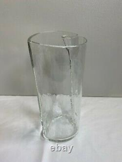 Alfredo Barbini Signed Murano Glass Heart Envelope Vase Italy 11 Tall Signed