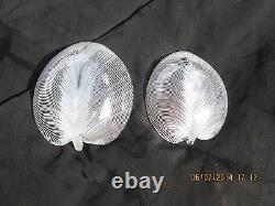 Antique Original Art Glass Murano-Venini-Tyra Lundgren Leaf Bowl Pair 1930's