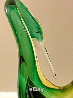 Antonio Da Ros Cenedese Murano Italy Mid Century Pair of Swan or Heron Birds