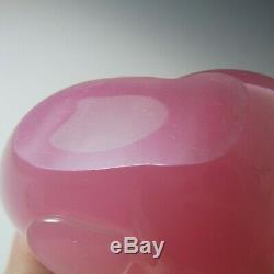 Archimede Seguso Murano Alabastro Pink Glass Fish Figurine