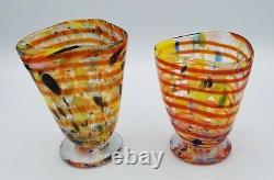 Aristide Najean Murano Italy hand blown set of 8 Art Glass glasses / tumblers