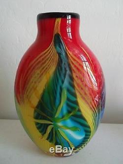 Authentic Murano Heavy Oriente Art Glass Vase