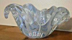 BEAUTIFUL Murano Glass HANDCRAFTED Bowl Latticino