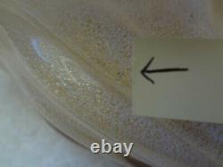 Barbini Murano Glass Art Pink White Gold Sea Shell Bowl Ashtray Dish
