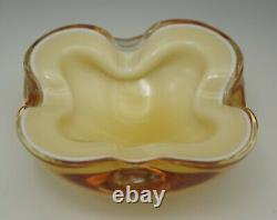 Barbini Murano Glass Cased Multi Color Layers Geode Bowl