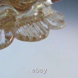 Barovier & Toso Murano Cordonato Oro Gold Leaf Glass Swan Bowl