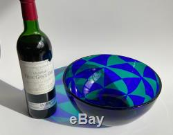 Big Ercole Barovier Intarsio Tessere Patchwork Italian Murano Art Glass Bowl
