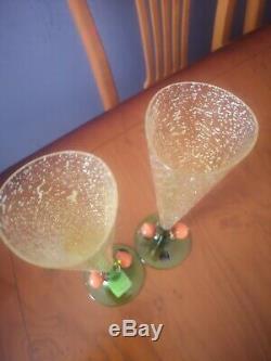 Carlo Moretti Tall Champagne Glass Signed 1993 Tavola Collezone Calici 9375