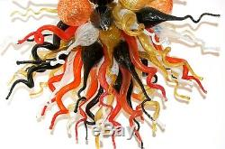 Chihuly Style Murano Hand Blown Glass Chandelier Multi-Color