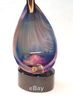 DINO ROSIN Hand Blown Murano Mandolin Art Glass Sculpture Video in description