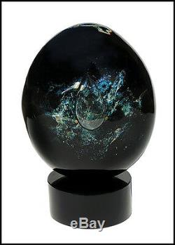 DINO ROSIN Original Hand Blown Murano Glass Sculpture Signed Artwork Planet SBO