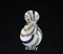 Dino Martens Glass Mezza Filigrana Vase By # 9764 Vintage Murano Authentic