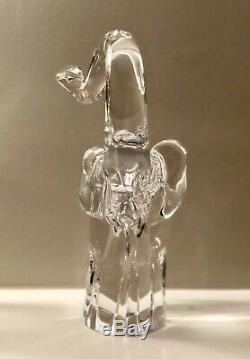 Elio Raffaeli For Oggetti Murano Italy Signed Art Glass Elephant Trunk Up 11 T