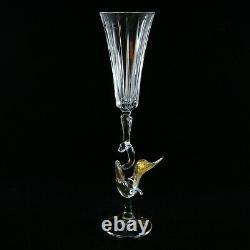 Exquisite Murano Venice Italy Hand Blown Swan Duck Wine Glass