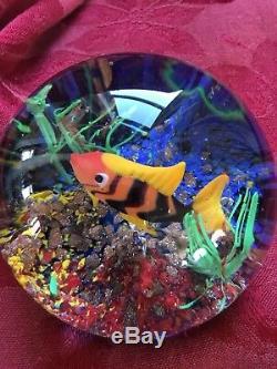 FLAWLESS Stunning MURANO Italy CENEDESE Glass FISH SEAWEED AQUARIUM Sculpture