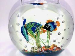 Fantastic Murano Aquarium Art Glass Fish Bowl Detail A++ Priced Quick Sale L@@k