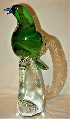 Fantastic Rare Murano Glass Bird Emperor of Germany Designer Maestro Francesco