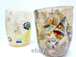 Glasses coloured, Murano glass Drinking Glass Set daily use handmade gift idea