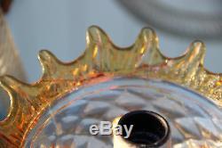 Gorgeous Venetian MURANO handblown orange glass Chandelier 6 arms 1970 Italy