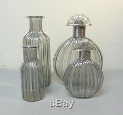 Group/4 Italian BARBINI Murano Art Glass Dresser Bottles
