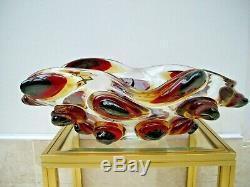 HUGE Artigianato Muranese labelled Murano glass bowl Signed E Cammozzo RRP £1600
