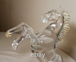 Hand blown PINO SIGNORETTO gold flek horse Italian Murano art glass sculpture