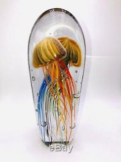 Huge! 13 Murano Elio Raffael Italian Art Glass Sculpture Ocean Life Jellyfish