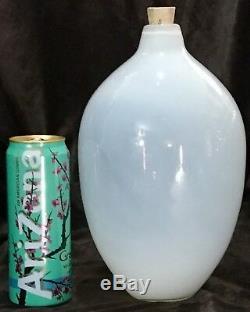 Huge 13 Murano Italy Beautiful Opalescent Glass Bulb Balloon Hand Blown Vase
