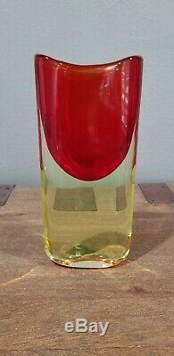 Huge Red Murano Glass Sommerso Vase by Seguso Vetri d'Arte