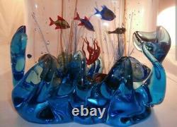 Huge Signed Murano Glass Aquarium Stunning! Seguso Raffaeli