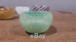 Important Carlo Scarpa Venini Bowl in Green Pulegoso Glass