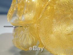 Italian Barovier Murano Gold Glass Cornucopia Circa 1950