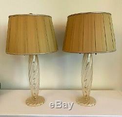 Italian Hand Blown Murano Glass Lamps by John Hutton for Donghia