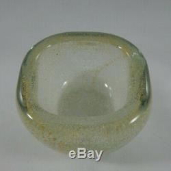 Italian Murano Venini Carlo Scarpa Glass Bowl, Dish Bollicine, Gold
