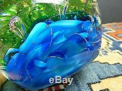 LARGE Murano Glass Fish Aquarium Glass Barbini Cenedese Style Excellent WOW