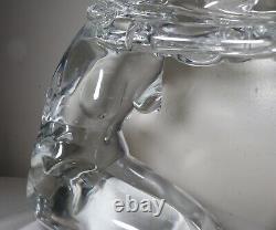 LARGE hand blown PINO SIGNORETTO studio nude lady Italian Murano glass sculpture