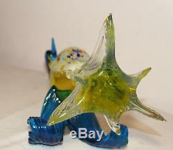 LARGE vintage hand blown glass Murano Italian bird of paradise statue sculpture