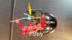 LUCIO BUBACCO Murano Hand Blown Glass Satan Devil Perfume Bottle SIGNED Original