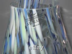 Large Italian Murano Vertro Eseguito Art Glass Vase Fantastic Shape