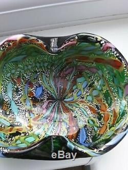 Large Murano AVeM zanfirico millefiori'tutti frutti' art glass bowl C 1960'S
