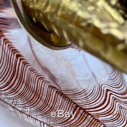 Licio Zanetti 25 3/4 Tall Murano Glass Bird Sculpture Italy Venini Era